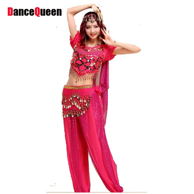 b355c558d0a6 Belly Dance Costume (Bellydance Bra+Shiny Skirts) Bollywood Dance Costumes  8colors Dance Wear Party Dress Free Shipping Tribal