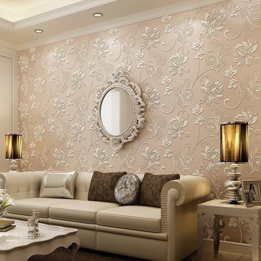 10M/Roll Classic Luxury 3D Europe Style Floral Embossed Textured Wall Paper Modern Wallpaper For Living Room Bedroom Home Decor