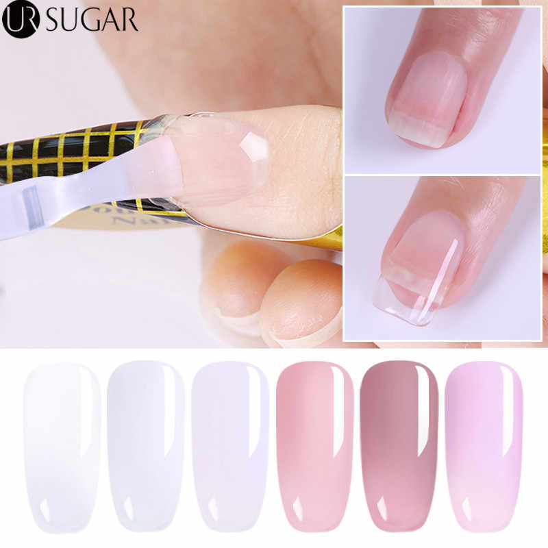 Ur Suiker Quick Extension Poly Nail Gel Clear Roze Acryl Builder Uv Gel 7.5 Ml Nail Verlengen Gel Polish