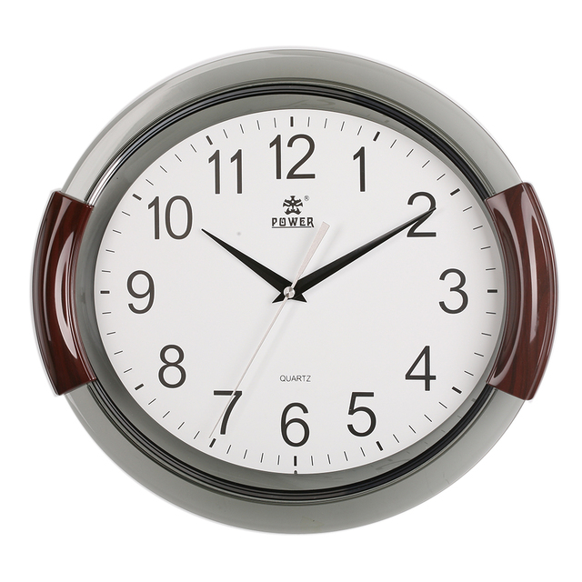POWER Brand 14inch Fashion Creative Living Room Clock Bedroom Quartz Clock  Modern Simple Oval Silent Clock