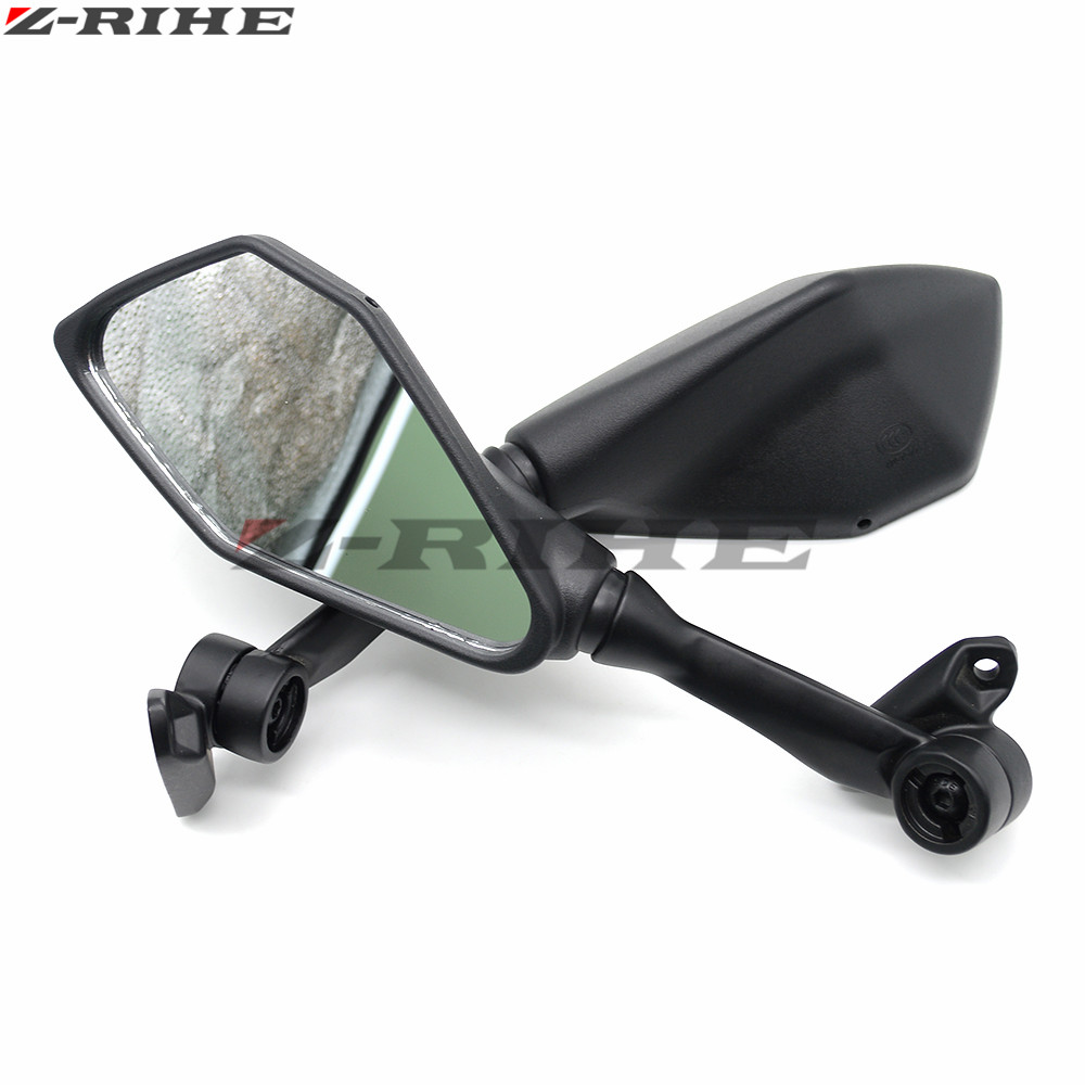 US $18 47 17% OFF|Black Rear View Mirrors Motorcycle Side Mirror for Honda  CBR 600 F2 F3 F4 F4i CBR600RR CB1000R CB599 CB600 CBR900RR NC700 PCX12-in