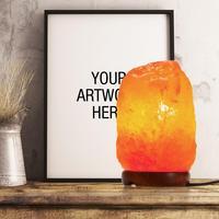 SOLLED 110V Dimmbare Hand Crafted Natürlicher Kristall Himalaya Salz Lampe mit Holz Basis  7W Birne und Netzkabel  2-zu-5 £