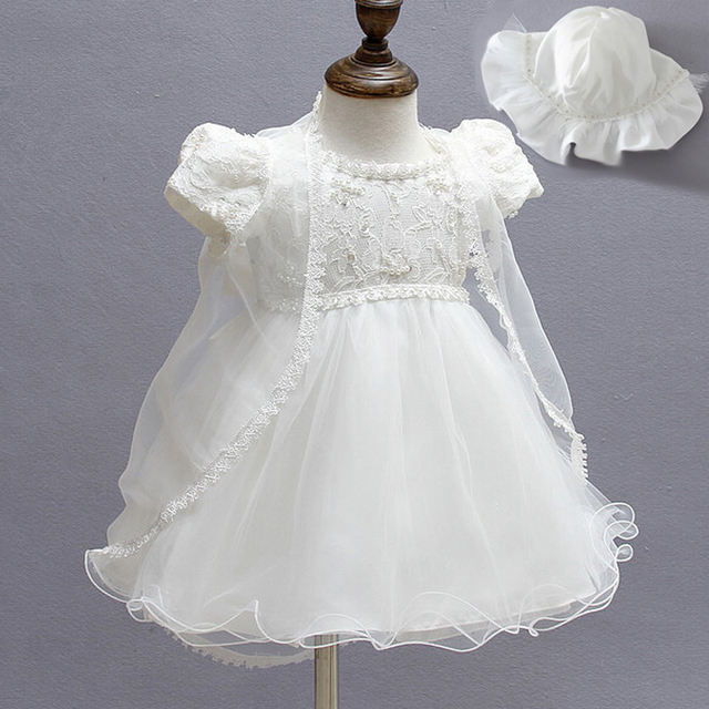 Infant 1 Year Birthday Party Dress Newborn Baptism Christening Gowns ...