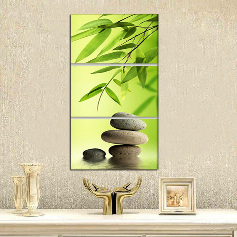Aliexpress.com : Buy Zen Garden Bamboo Modern Wall Art WIth Clock Canvas  Print 3 Panel Set FRAMED From Reliable Modern Wall Art Suppliers On  Shop403793 ...