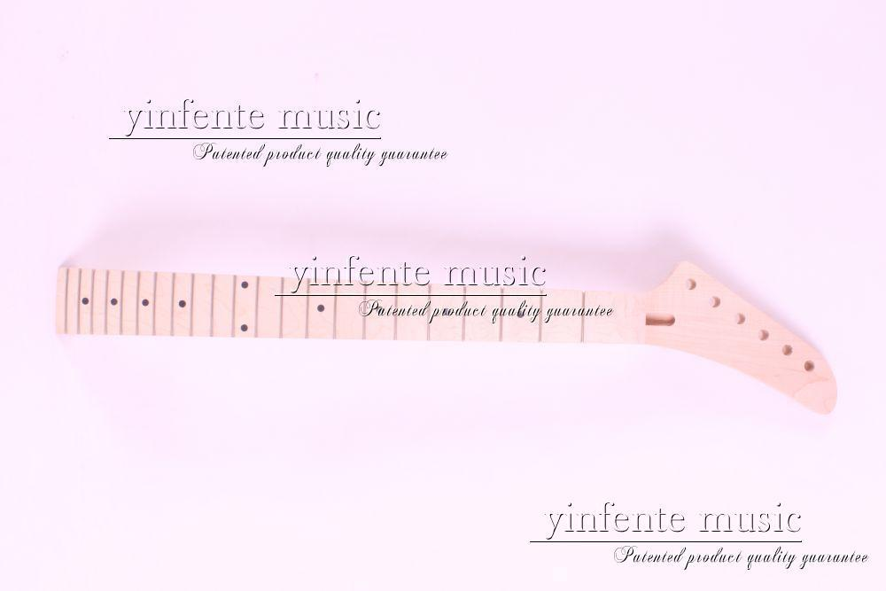 22  fret high quality Unfinished electric guitar neck maple made maple fingerboar new electric guitar neck maple 22 fret 25 5 truss rod nice inlay durable 727