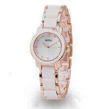 Ventas calientes! Kimio Retro Estudiante/Reloj de La Mujer y un medio De Cerámica Reloj de Pulsera de Cuarzo Reloj de la Tendencia de la Moda Señoras Reloj