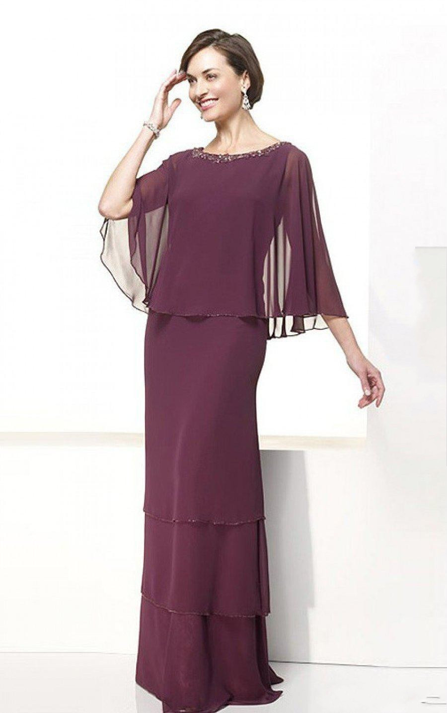 US $115.08 |2019 New Designed Plus Size Long Chiffon Mother Of The Bride  Dresses Floor Length Beaded Groom Mother Dress Wedding Party Gowns-in  Mother ...