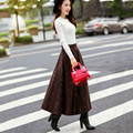 Uwback 2017 New Arrival Wool Long Skirt Women High Waist A-line Faldas Skirts Womens Thick Warm Woolen Vntage Jupe Shirt CBB294