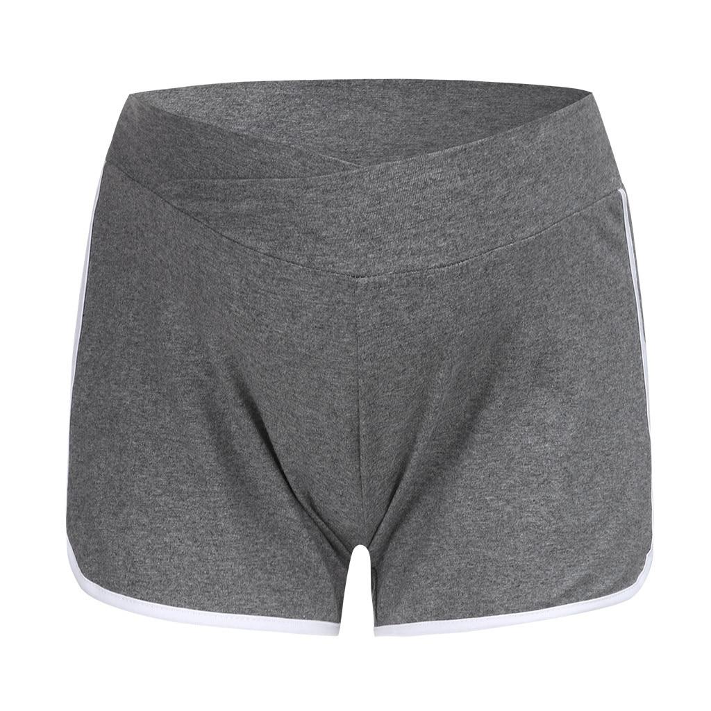 ARLONEET летние шорты для беременных с низкой талией, тонкие хлопковые шорты, Одежда для беременных женщин, повседневная спортивная одежда для беременных - Цвет: GY