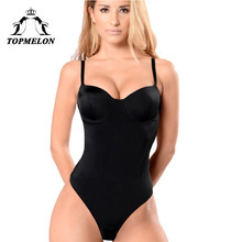TOPMELON Backless Bodysuit Underwear Women Body Shaper Slimming Shapewear Sexy Lingerie Push Up Strap Shapers