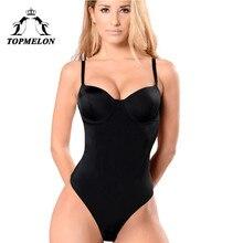 TOPMELON kombinezon bez pleców bielizna damska urządzenie do modelowania sylwetki odchudzanie Shapewear seksowna bielizna Push Up Strap Shapers