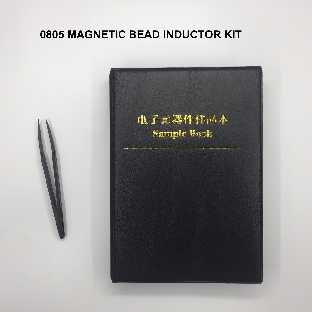 Free Shipping 1100pc 0805 Smd Magnetic Bead Inductor Kit 0805 Inductor Assortment Sample Book 22value*50pc Inductance Kit