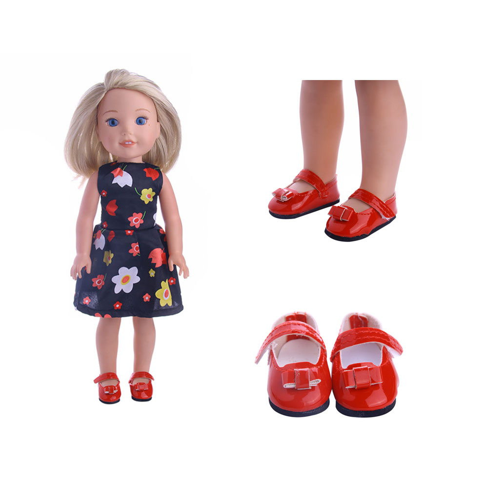 Fashionable and lovely solid shoes  for Wellie Wisher doll ,14.5 inch American Girl Doll  ,Doll accessories wisher vol 1 nigel