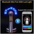 Bluetooth USB Мини Гибкая Время СВЕТОДИОДНЫЕ Часы Вентилятор со СВЕТОДИОДНОЙ Подсветкой-Прикольный Гаджет Бесплатная доставка Оптовый Магазин