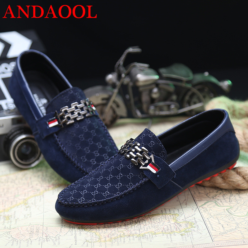 ANDAOL Men 39 s Leather Casual Shoes Top Quality Soft Mocassin Non Slip Light Driving Loafers Luxury Slip On Business Office Shoes in Men 39 s Casual Shoes from Shoes