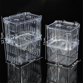 2 Size Acrylic Aquarium Floating Breeding Box Double Layers Guppy Betta Fish Tank For Breeding Hatchery Isolation 3 in1 1