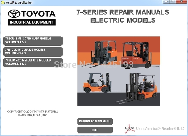 forklift 7 series repair manuals for toyota in software from rh aliexpress com Toyota Forklift Repair Manuals PDF Toyota Forklift 42-5FG25 Manual Repair