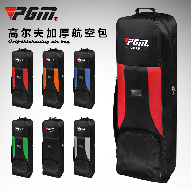 PGM genuine Golf air bag thickening type double deck aircraft bag with pulley golf bag pgm genuine golf standard durable bag waterproof lady golf capacity standard ball bag embroidered package contain full set club