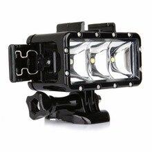 TIRER Universel Étanche Dimmable LED Plongée Lumière pour SONY Gopro Hero 4 3 3 + h9 SJCAM SJ4000 SJ5000 Xiaoyi 4 K accessoires