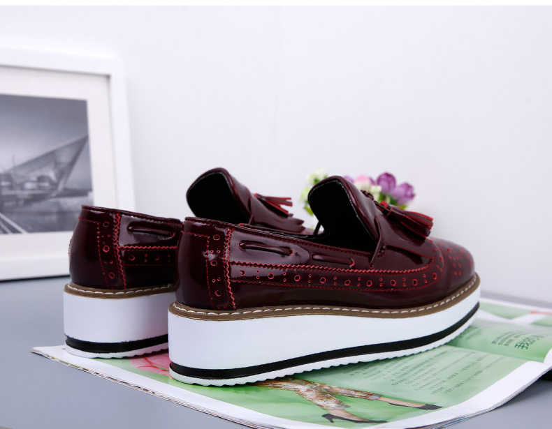 9dafdbb031 Insole Material: Rubber Lining Material: Genuine Leather Flats Type: Oxfords  Platform Height: 3-5cm. Decorations: Tassel