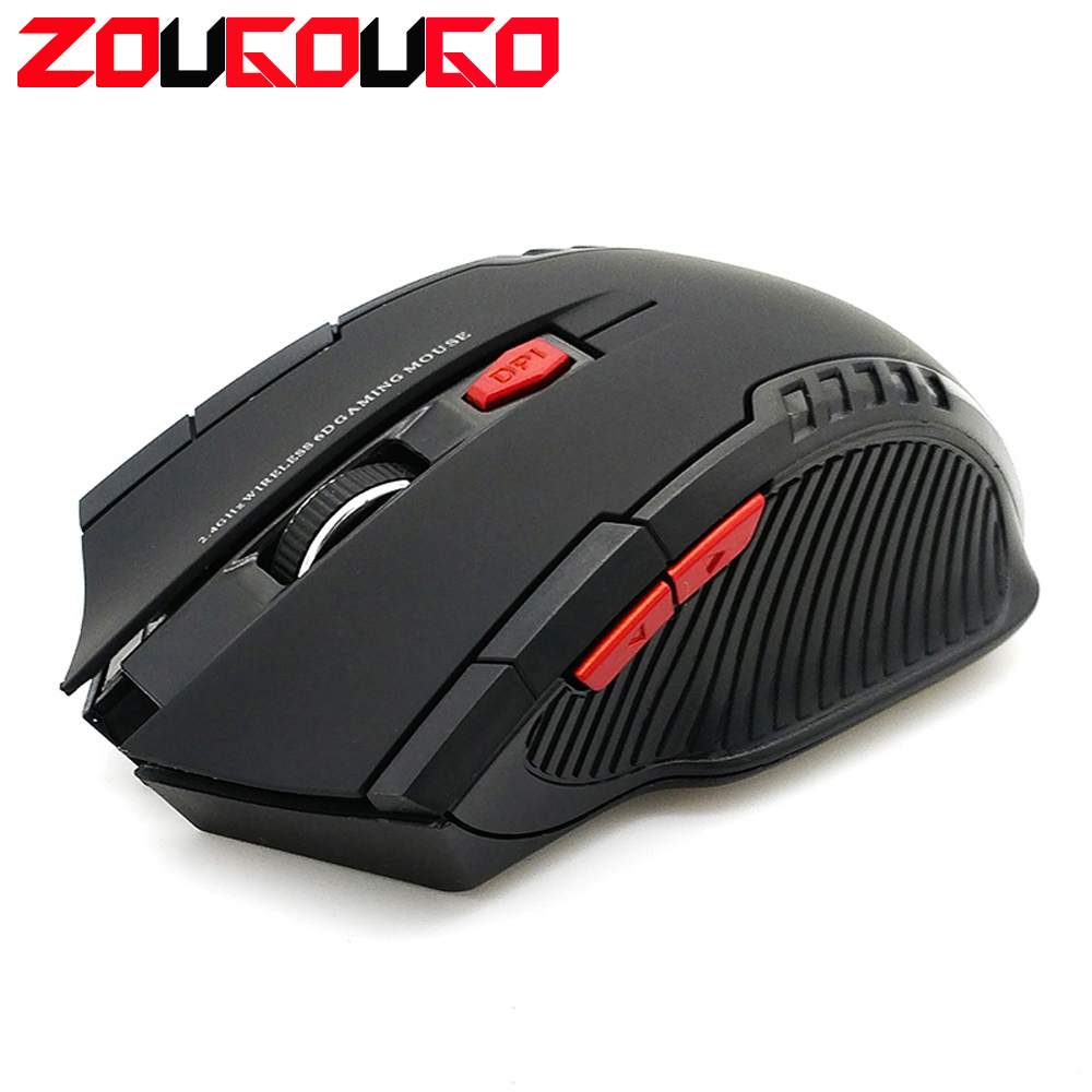ZOUGOUGO 2000DPI 2.4GHz Wireless Optical Mouse Gamer for PC Gaming with USB Receiver