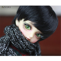 Bybrana BJD wigs High temperature wire soft short black hair available for 1/6 1/4 BJD SD MDD doll accessories
