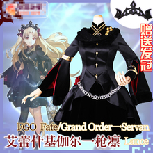 FGO Fate/Grand Order Irkalla Servant Ereshkigal Black Cosplay Costume Women Dress Halloween Cosplay Outfits Dress+Crown стоимость