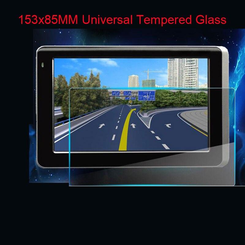 153*85mm Verre LCD Garde pour 7 pouce Irulu BDF WeCooL tablet voiture GPS PDA MP4 Vidéo DVD 9 H Trempé Protecteur D'écran En Verre