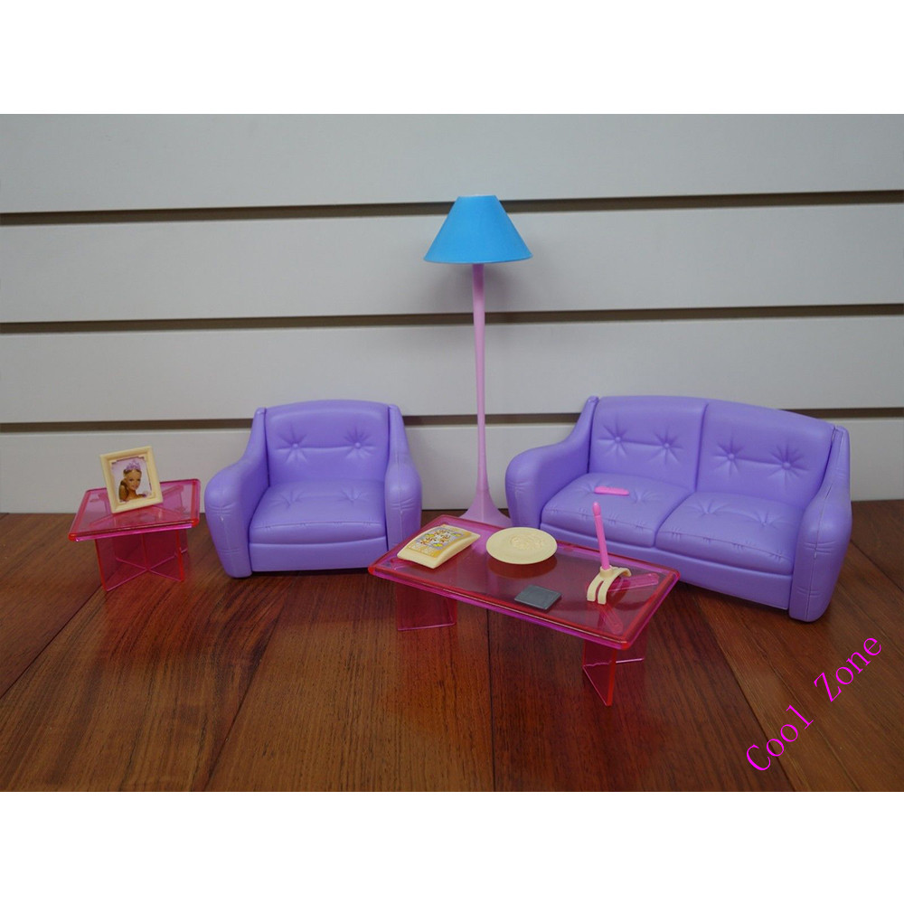 Miniature furniture my fancy life living room set for barbie doll house best gift toys for girl free shipping in dolls accessories from toys hobbies on