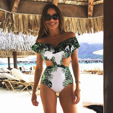 21e9b1d8e99e4 Ruffle Bikini Set Women Flower Bikini Off Shoulder Swimwear High Waist  Brazilian Biquini Female Swimsuit Flounce Beach Wear