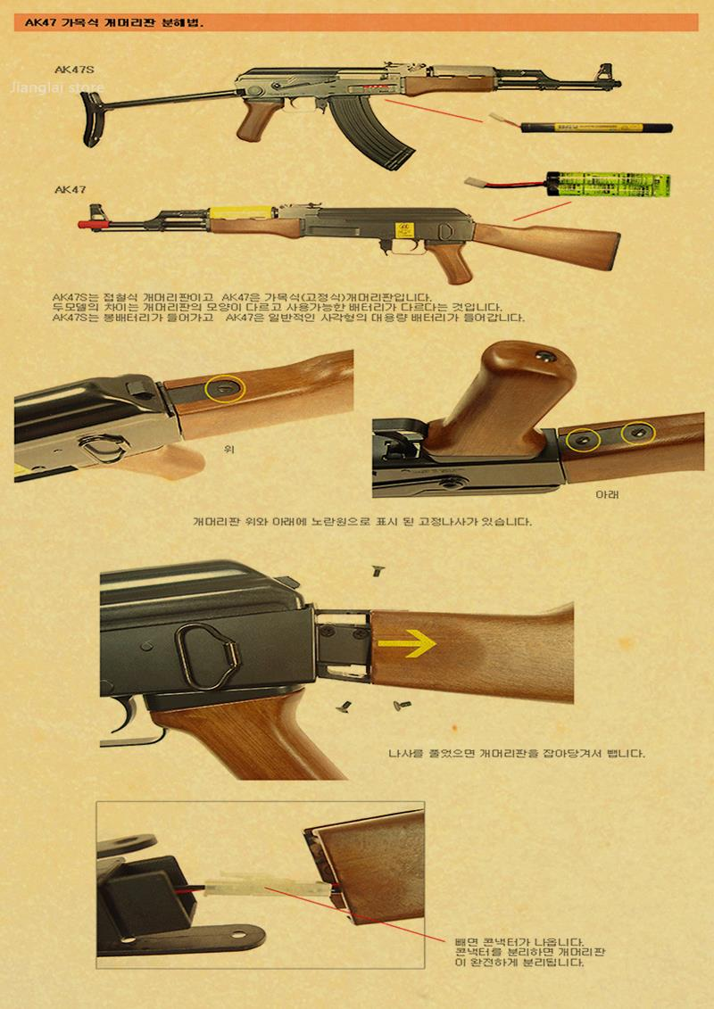 world famous gun Posters / military fans Vintage Poster / kraft ...