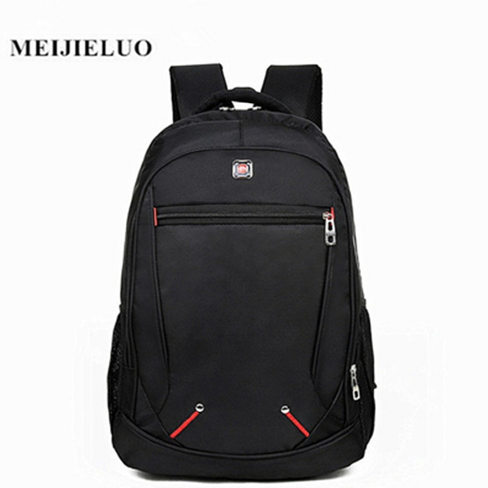 Designer Brand Black Laptop Multifunction Rucksack Backpack Men's 17.8 Inch Computer Bag Roomy Travel Oxford Waterproof Bags