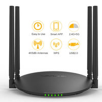 1200Mbps Dual Band Wifi Router Smart Wireless WI FI Router USB Port 2 4G 5G Wifi