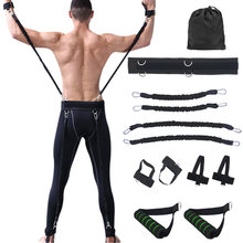 100lbs Fitness Resistance Bands Set for Arms Legs Strength and Agility Workout Equipment Boxing Basketball Jump Force Training(China)