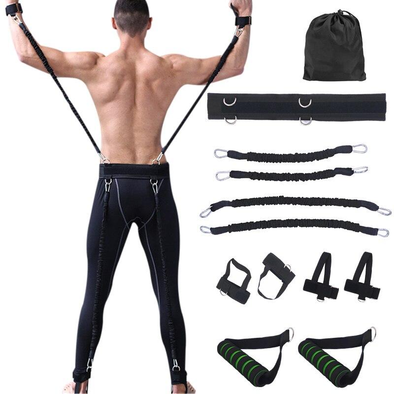 100lbs Fitness résistance bandes ensemble pour bras jambes Force et agilité équipement d'entraînement boxe basket-ball saut Force entraînement