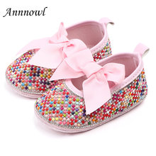 Туфли принцессы для новорожденных девочек обувь вечеринки с