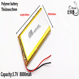 Image 1 - Liter energy battery Good Qulity 3.7V,8000mAH 9060100 Polymer lithium ion / Li ion battery for tablet pc BANK,GPS,mp3,mp4