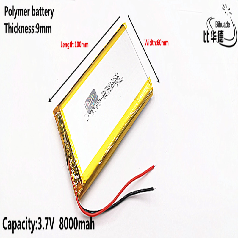 Liter energy battery Good Qulity 3.7V,8000mAH <font><b>9060100</b></font> Polymer lithium ion / Li-ion battery for tablet pc BANK,GPS,mp3,mp4 image