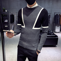 2018 new sweater male Korean version of the trend of self cultivation round neck winter social spirit guy network red sweater