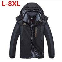 9XL 8XL Winter Thick Padded Parka Men Jacket Coat Russian Wadded With velvet Casual Warm Snow Windbreaker Overcoat Male Jackets