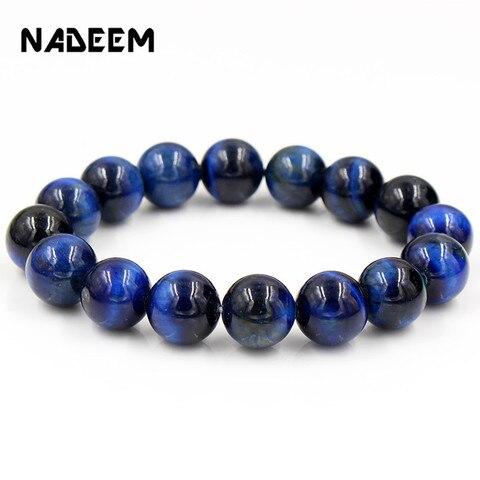 Оптовая продажа браслеты из натурального камня синего Тигрового