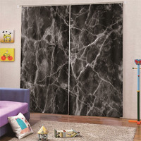 3D Digital Print Marble Curtain Kitchen Living room Curtain For Small Window Door Simple Star Short Home Decor Draps AP24