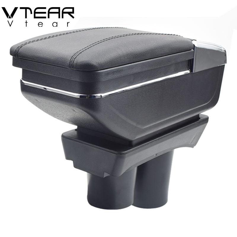 Vtear Per Citroen c-elysee/Peugeot 301 bracciolo centrale contenuti Negozio scatola di Immagazzinaggio con il supporto di tazza posacenere accessori 2012-2016
