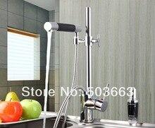 Регулируемые по высоте Одной ручкой Водопад вытащить спрей раковина смеситель кран хромированная отделка тщеславия кран L-1630