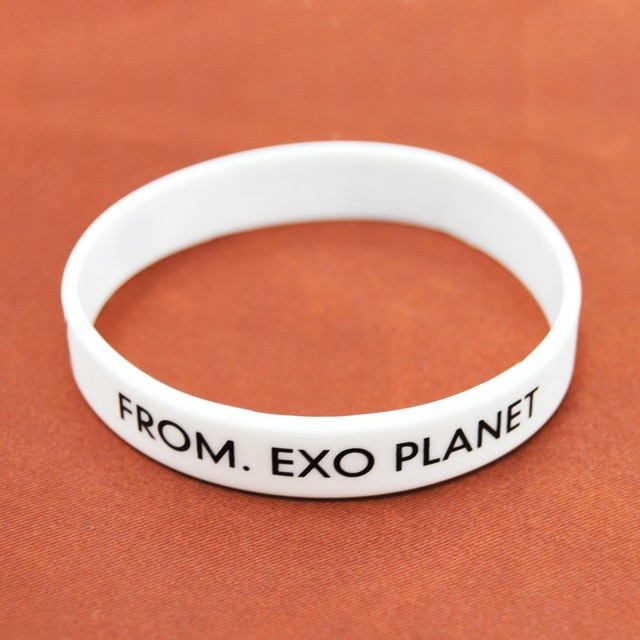 New Fashion Brand Silcone EXO Bracelets Bangles Men Candy Color Rubber Bands Bracelet For Women Wristband Jewelry Gift Pulseira