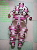 Секс шоп Новый 11 шт./компл. нержавеющая сталь женский пояс верности интимные изделия садо жгут Фетиш Секс рабыней игры для женщин.