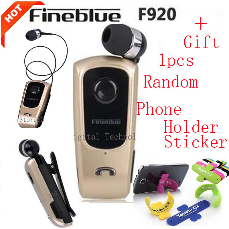FineBlue F920 Wireless Bluetooth Earphones Headset Clip Retractable Earbuds Calls Remind Vibration Car Kit Driver auriculares