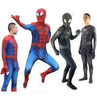 Red Black SpiderMan Cosplay Costume Venom Suit Spandex Lycra Zentai Halloween Spider Man Bodysuit For Adult