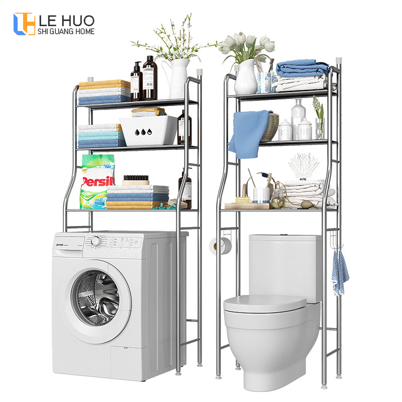 Multi-function Over Toilet Storage Shelf Bathroom Stainless Steel Finishing Rack Washing Machine Shelf Household Furniture