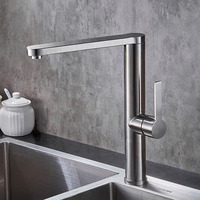 Kitchen Basin Faucet Mixer Taps Single Handle Chrome Finish 2130163